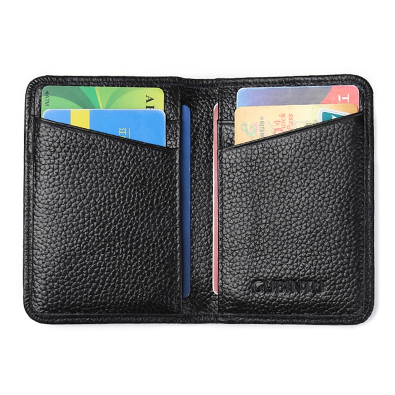 New Fashion RFID Front Pocket Wallet Purse Men Business Slim Credit Card ID Holder Case Faux Leather Card Containers