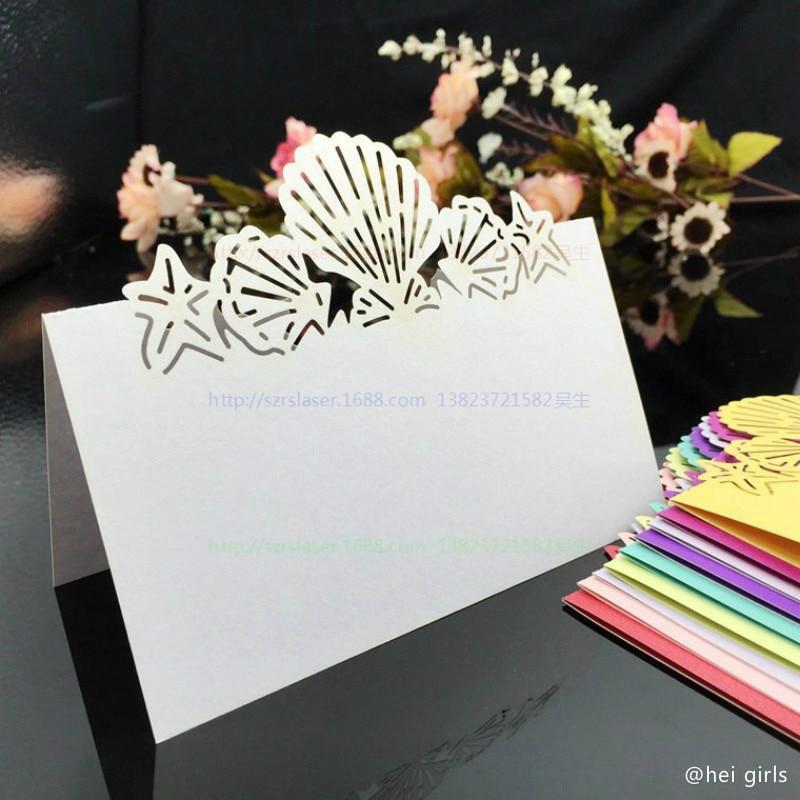 50pcslot hollow shell wedding invitations laser table name card aeproducttsubject junglespirit Choice Image