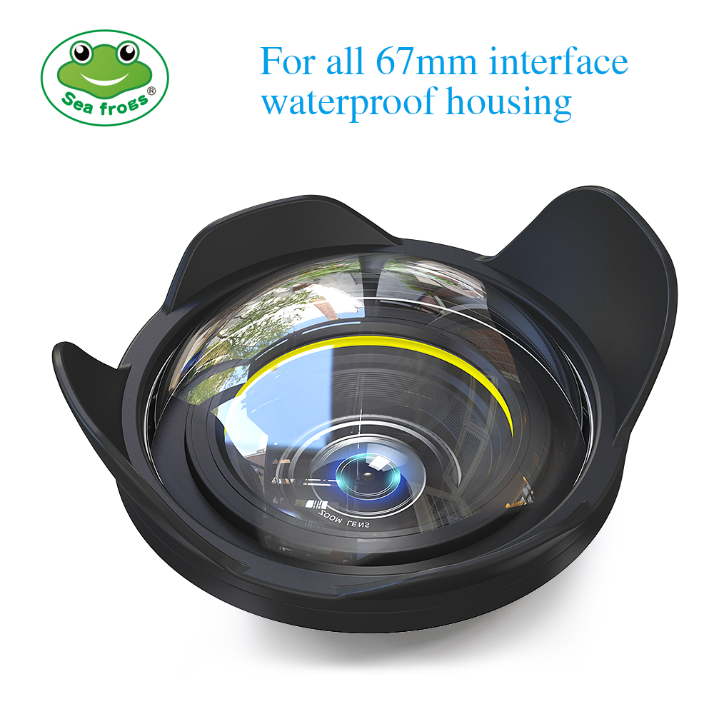 Camera Lens Wide Angle 67mm Interface for Sony Canon Nikon Fujifilm Camera Seafrogs Meikon Housing Underwater Diving Fisheye