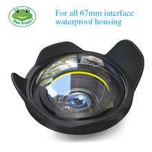 Camera Lens Wide Angle 67mm Interface for Sony Canon Nikon Fujifilm Seafrogs Meikon Housing Underwater Diving Fisheye