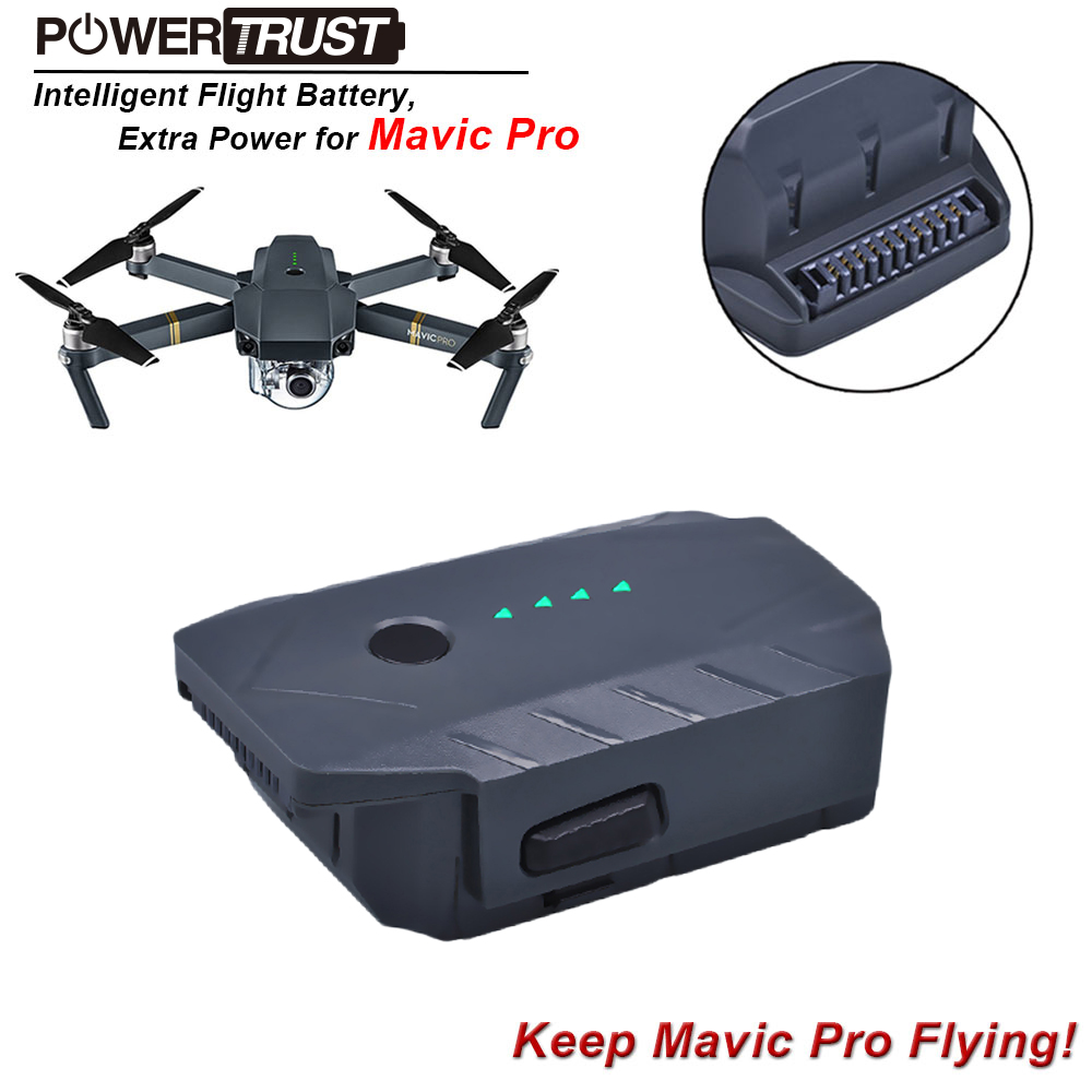1x 3830mAh 11.4V Mavic Pro Intelligent Flight Replacement Battery for DJI Mavic Pro/ Fly More Combo Quadcopter 4K HD Drones квадрокоптер набор dji mavic pro 4k quadcopter бпла чёрный