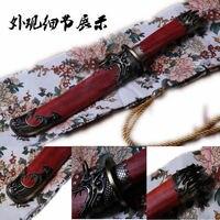 Feito à mão katana japonês samurai espada dobra lâmina de aço tigre afiada-tanto