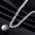 Collar de lujo set Joyería conjunto pendiente de la pulsera del collar de La Joyería Grande juegos de Joyería CZ collar collar de las mujeres conjuntos