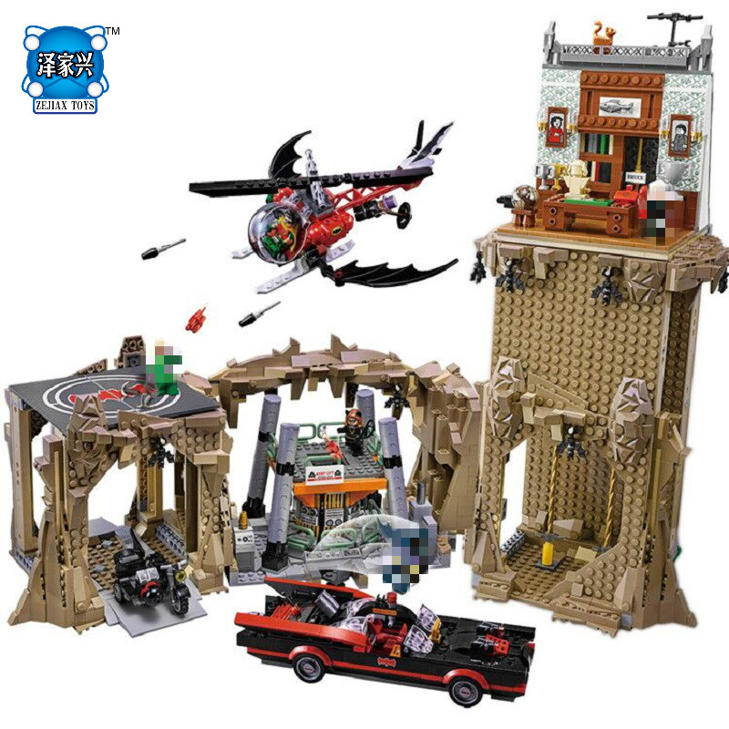2566pcs Genuine DC Batman Super Heroes MOC Batcave Educational Building Blocks Bricks Toys Gift Compatible Lepins for Children single sale pirate suit batman bruce wayne classic tv batcave super heroes minifigures model building blocks kids toys gifts