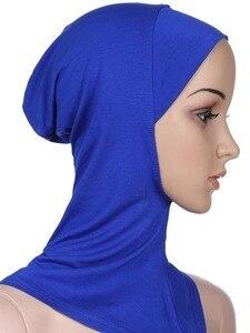 Image 5 - Zachte Onder Sjaal Hoed Cap Bone Motorkap Hijab Islamitische Hoofd Slijtage Hals Volledige Cover Inner Moslim Dame Elastische Ninja Vrouwen hoofddeksels Caps