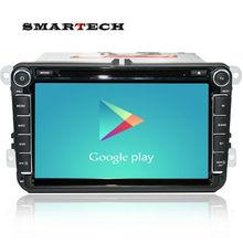 Android 4.4 radio estéreo del coche para vw passat b6 golf 5 Quad Core 8 pulgadas 1024*600 GPS del DVD del coche de navegación OBD DVR incluye puede bus