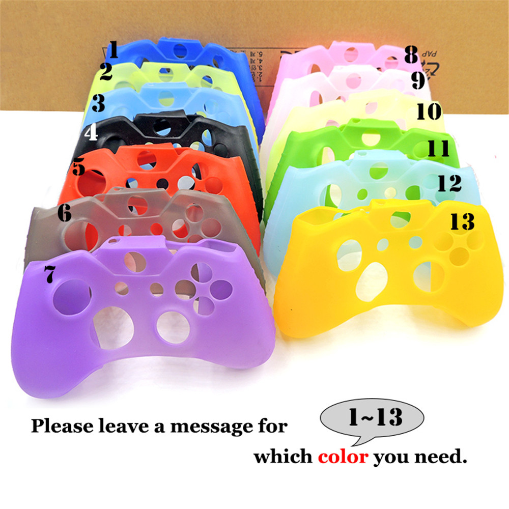 For XBox One X S Controller Silicone Skin Case + Analog Thumb Stick Grip Cap For X Box One 1 X S Slim Joystick
