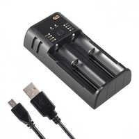Q2 3,7 V 18650 batterie ladegerät Li-Ion USB unabhängige lade tragbare elektronische zigarette 14500 18350 16340 batterie ladegerät