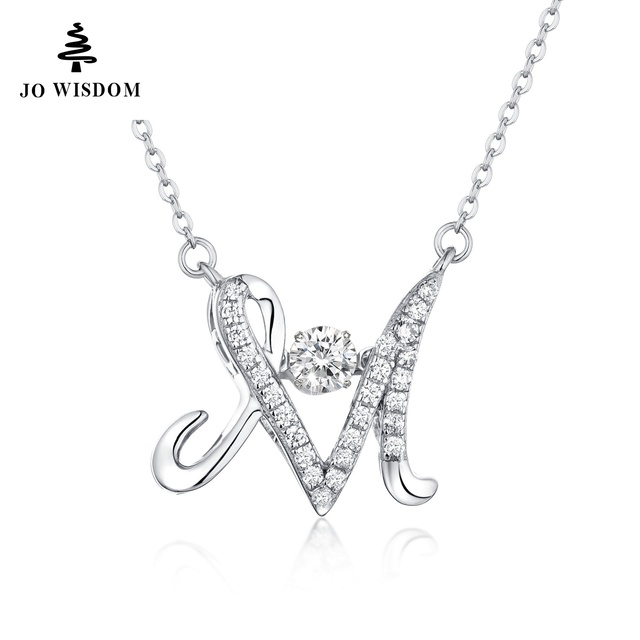 Letter necklace women gift customized alphabet m letter pendant letter necklace women gift customized alphabet m letter pendant charm necklace with dancing stone thecheapjerseys Images