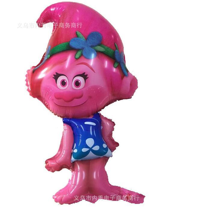 Liela izmēra Trolls balons Trolls Poppy Balloons Dzimšanas dienas svinības Rotaļlietas bērniem Globos Laulības dekorēšana