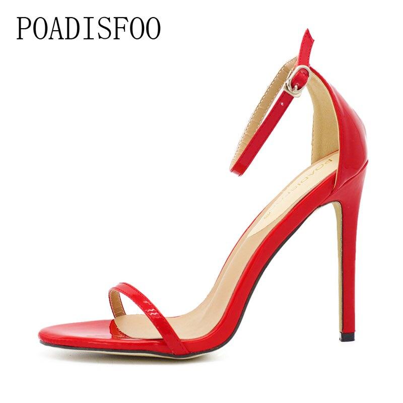 HTB1N6p8mlfH8KJjy1Xbq6zLdXXa4 2020 New WOMEN Cover Heel Summer Super high heel Sandals Rough Fish Head open-toed Sandals sexy Large size women shoes .ZL-726-3