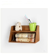 1PC Zakka Grocery Solid Wood Two Layers Retro Collection Box Desktop Sundries Cosmetics Wooden Storage JL 0936