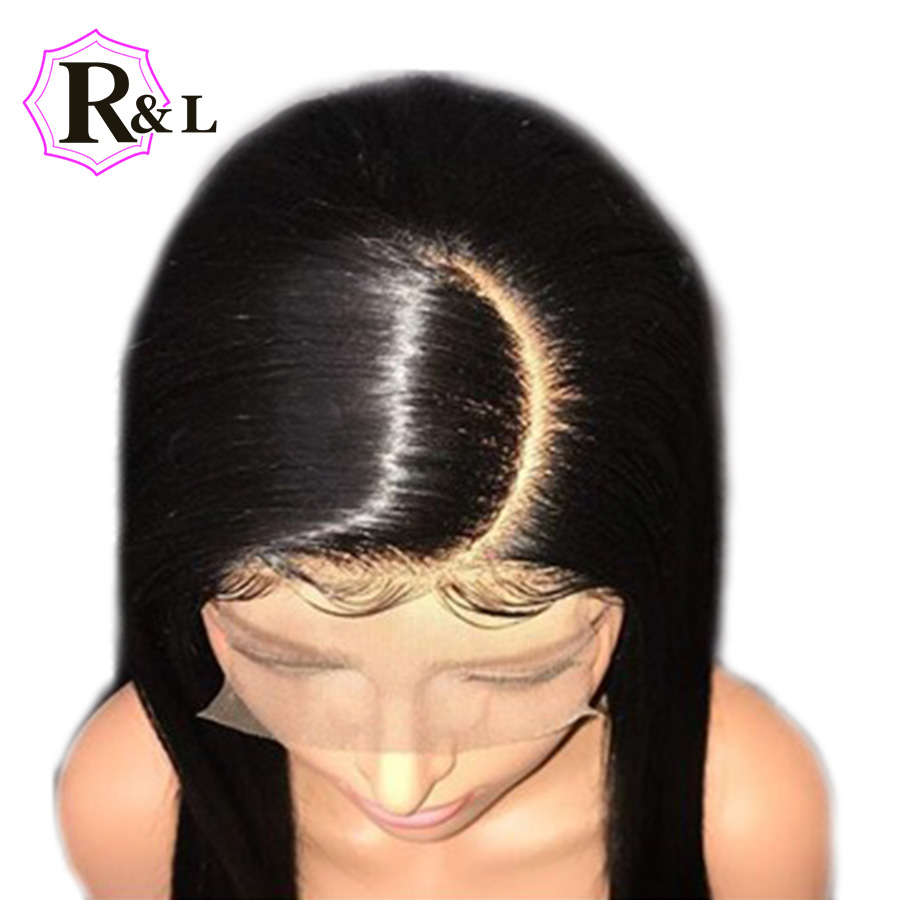 RULINDA Straight Lace Front Human Hair Wigs C Part 13 4 Pre Plucked Brazilian Remy Hair