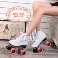 Japy linha patins roller skate patins double branco double modelos europeu e americano feminino de corrida f1 4 rodas rolo sapatos