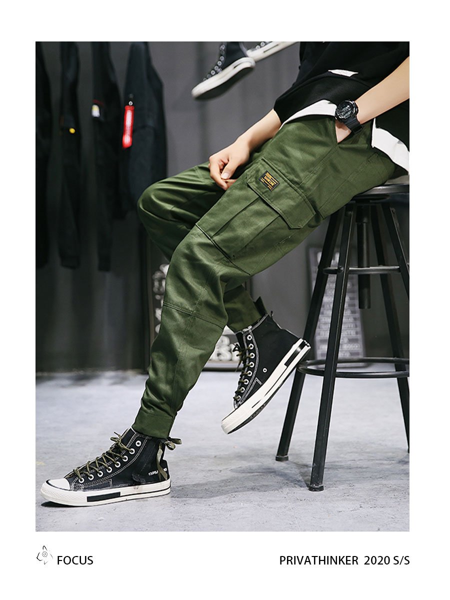 Privathinker Cargo Pants Men 2020 Mens Streetwear Joogers Pants Black Sweatpant Male Hiphop Autumn Pockets Trousers Overalls 63