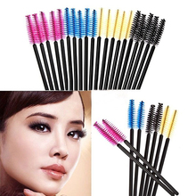 50Pcs Disposable  Cosmetic Eyelash Brush Makeup Tool Mascara Wands Applicato Chic Design