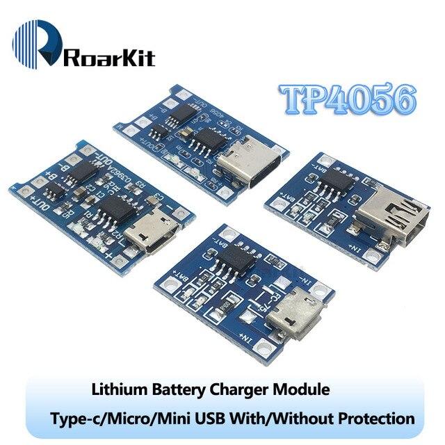 Carte de charge de Module de chargeur de batterie au Lithium type-c/Micro/Mini USB 5 V 1A 18650 TP4056 avec Protection double fonctions 1A Li-ion