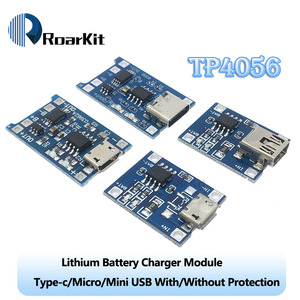 Type-c/Micro/Mini USB 5V 1A 18650 TP4056 Lithium Battery Charger Module Charging Board With Protection Dual Functions 1A Li-ion