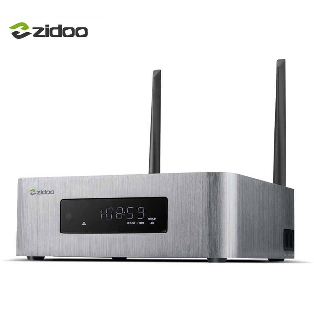 ZIDOO X10 Smart TV Box Quad Core Android 6.0 4 k TV Box 2g/16g Double Bande WIFI HDMI 2.0 HDR Media Player 1000 m LAN Set top Box