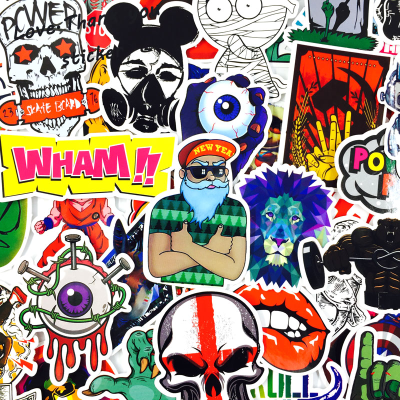 Image 2 - 1000 PCS Mix Style Stickers Fridge Skateboard Toys Cool JDM Doodle Decals Home Decor Luggage Car Styling Bike Laptop DIY Sticker-in Stickers from Toys & Hobbies