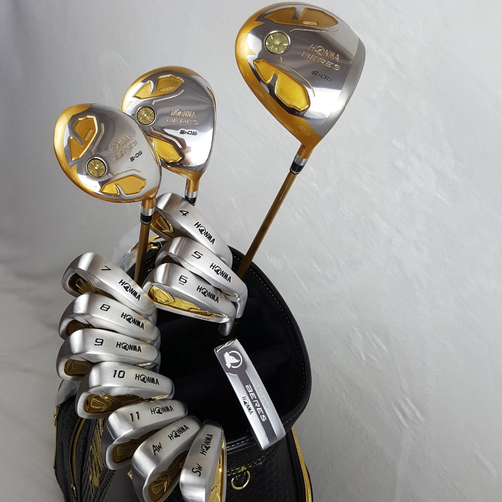 Golf Clubs Complete Set Honma Bere S-05 4 star golf club sets Driver+Fairway+Golf iron+putter (14piece) NO Golf bag mini golf club set golf ball sport abs golf club for children golf table with flag kids sport game toy nice best gift children