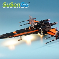 SuSenGo Decorate Light Set For Model Star Wars Poe S X Wing Fighter Lepin 05004 Compatible