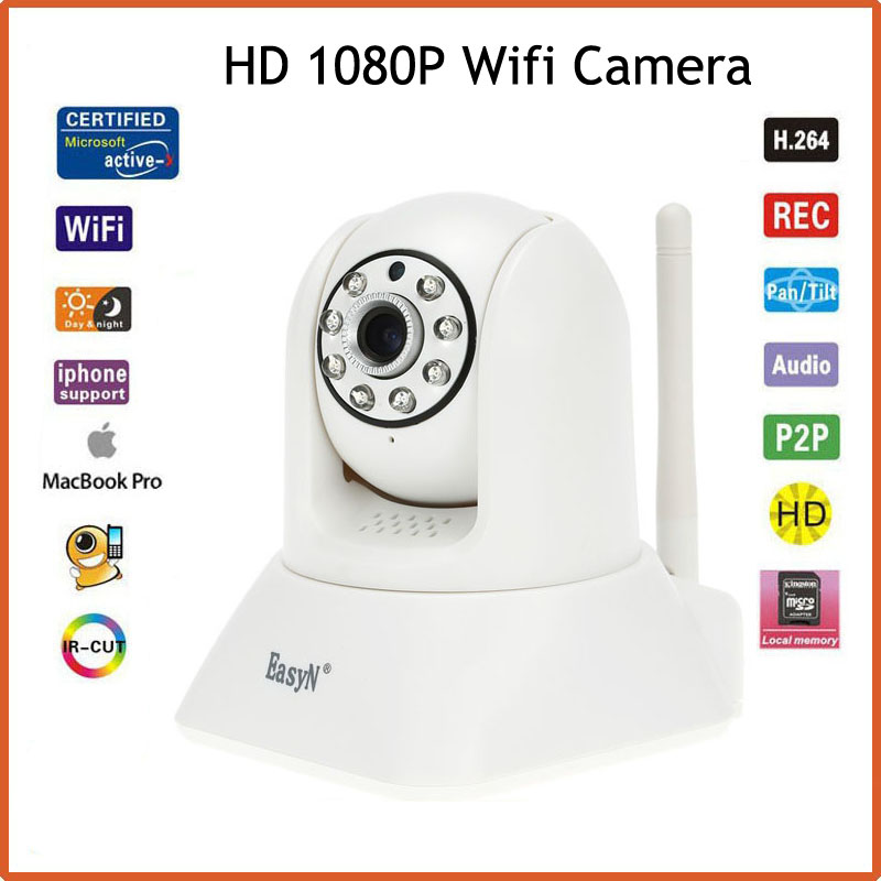 EasyN Wireless 2.0MP IP Camera Wifi 1080P P2P ONVIF CCTV Security Camera H.264 P/T IR-Cut Night Vision Motion Detection IP Cam easyn a115 hd 720p h 264 cmos infrared mini cam two way audio wireless indoor ip camera with sd card slot ir cut night vision