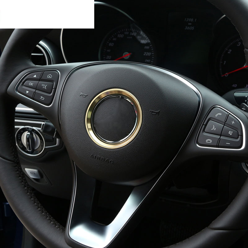 Aluminum chrome steering wheel ring trim for mercedes benz for Mercedes benz ring