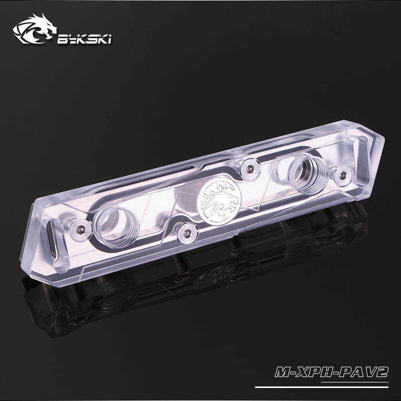 Bykski RAM Water Cooling Block use for Dual Channel 2pcs RAM Cooled / Copper Radiator with Metal Cover
