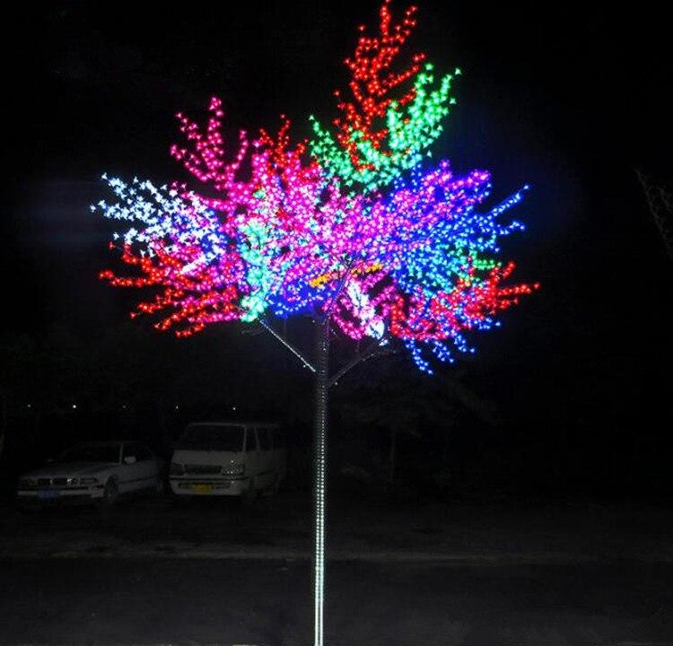 52 Вт 1.8 метра 864 светодиоды Рождество персикового дерева огни и освещение с бесплатной доставкой; для europ/Северная Америка ac110v ac240v
