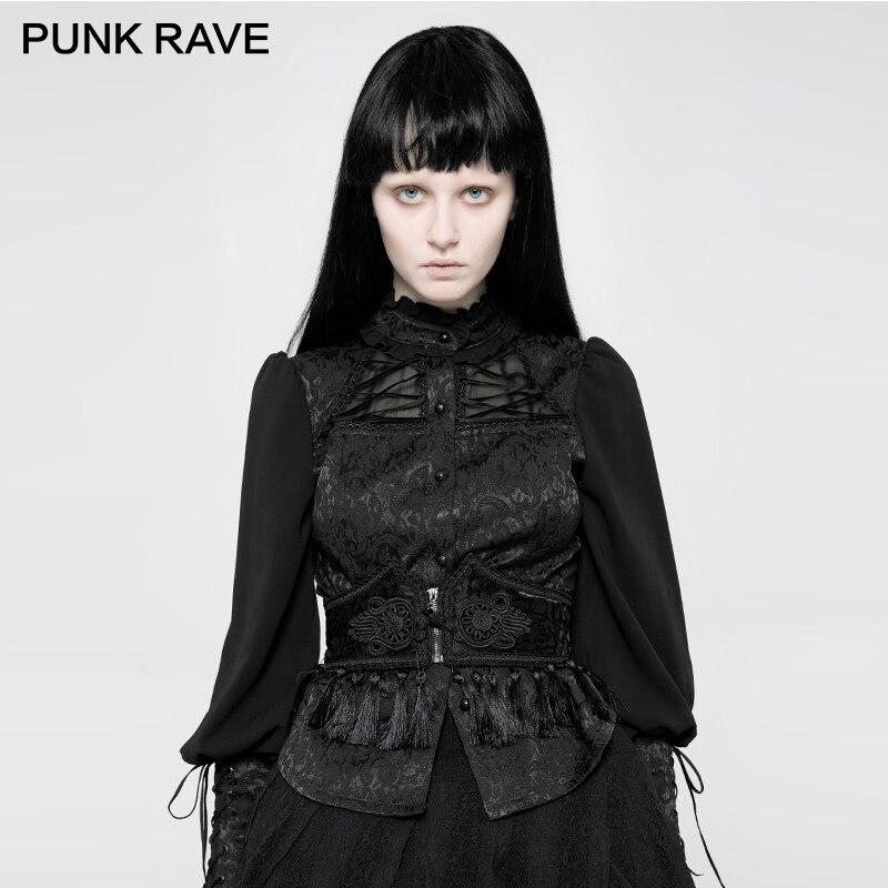 PUNK RAVE gothique femme gland dentelle palais motif ceinture personnalités peuvent réglable corde sangle conception Jacquard femmes Corset
