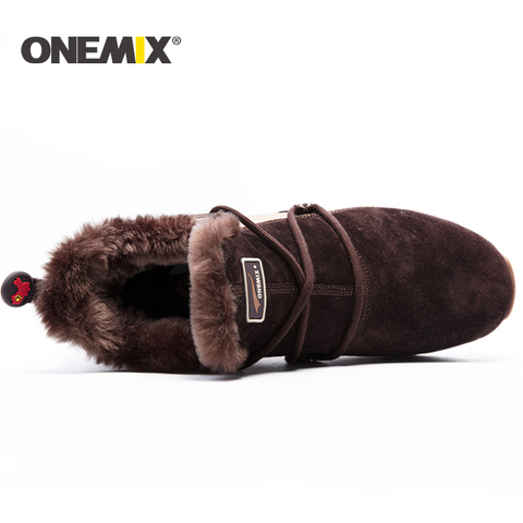 ONEMIX winter men running shoes men warm snow boots outdoor sport shoes women plush lining warm trekking shoes men sneakers men Karachi