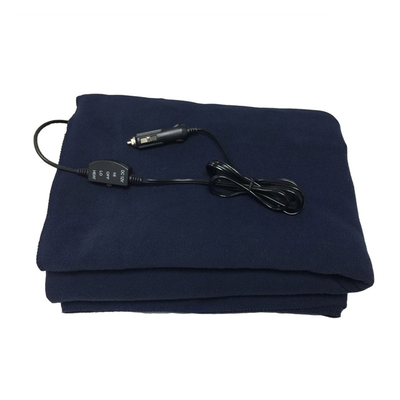 1.45X1m Car Electrical Heating Blanket Car Accessories Fleece Cosy Warm Winter For Car Van Truck Road Trips Camping RV