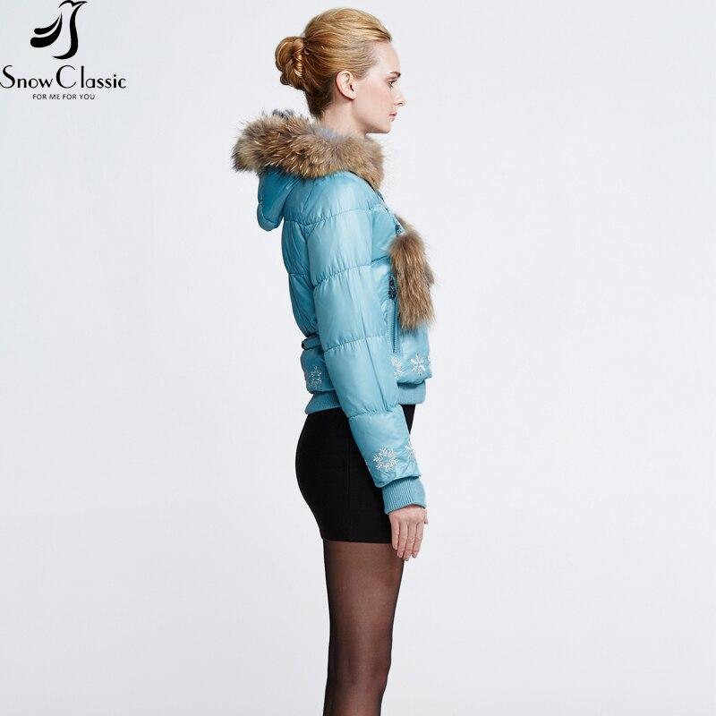 Снежно класическо зимно яке за жени - Дамски дрехи - Снимка 2