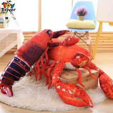 Creative Simulation Plush  Lobster Pillow Cushion Toys Stuffed Doll Kids Baby Birthday Christmas Wedding Gift Present Triver Toy