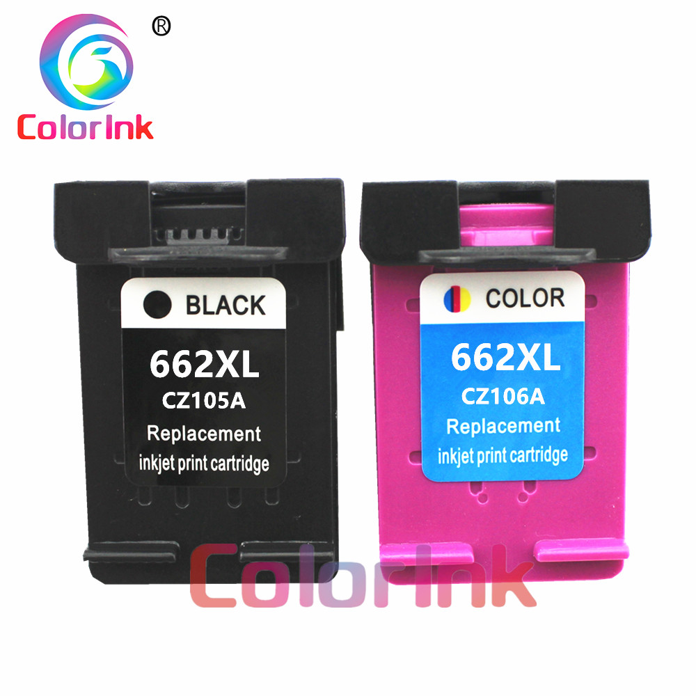 ColoInk 2Pack <font><b>662XL</b></font> Ink Cartridge Replacement for <font><b>HP</b></font> 662 XL for Deskjet 1015 1515 2515 2545 2645 3515 3545 4510 4515 4516 ink image