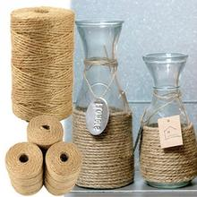 Wrap Twisted-Rope Sisal 1-Roll 100M Packing-Bags Crafts Party-Supplies Rustic-Tags Wedding-Decoration