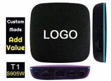 3pcs T1 905W Custom Made Amlogic S905W Quad core Smart Android7.1 LIVE TV Streaming Box 1GB 8GB MediaHub 1200+ live tv 1000+ VOD