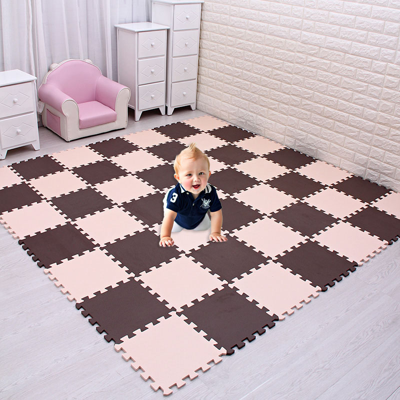 18pcs Home Floor Mats Bathroom Carpet Foam Tapete Exercise Floor Mats Gym Garage Waterproof Rug For Kids Play Crawling Mat
