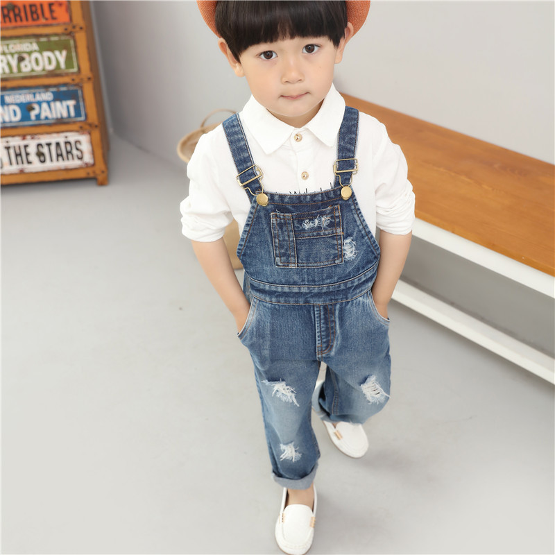 1a49dcdb2a9e Deinm Unisex Toddler Kids Baby Girls Boys Bib Pants Overalls Suspenders  Pant Children Broken Hole Pants Infant Boys Ripped Jeans-in Pants from  Mother & Kids ...
