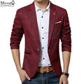 2017 New spring men casual Blazer mens linen cotton suit Jacket slim fit Men's classic blazer for male
