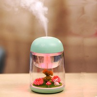 Micro Rabbit Garden Landscape Humidifier Aroma Essential Oil Diffuser 180ml Cool Mist Humidifier With Adjustable Mist