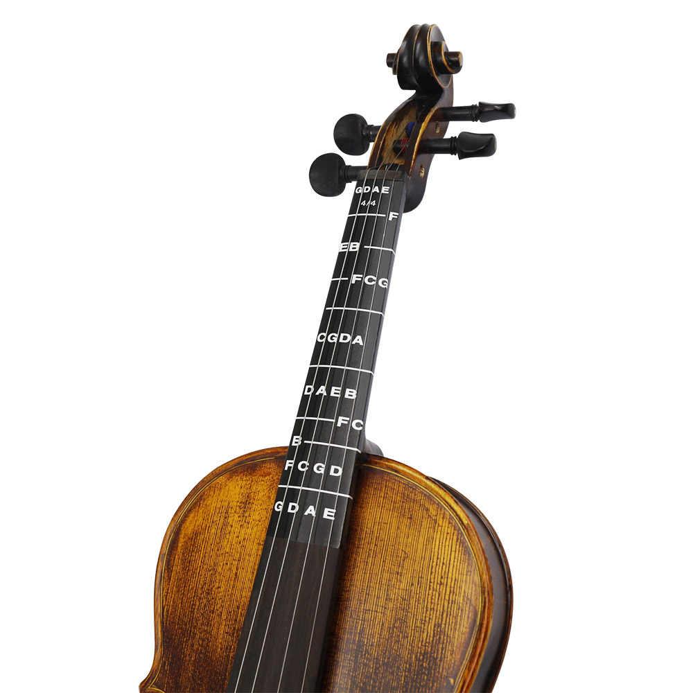 1 sztuk podstrunnica podstrunnica Fret Finger Chart przewodnik etykieta plakat naklejka na pełne 4/4 rozmiar skrzypce skrzypce