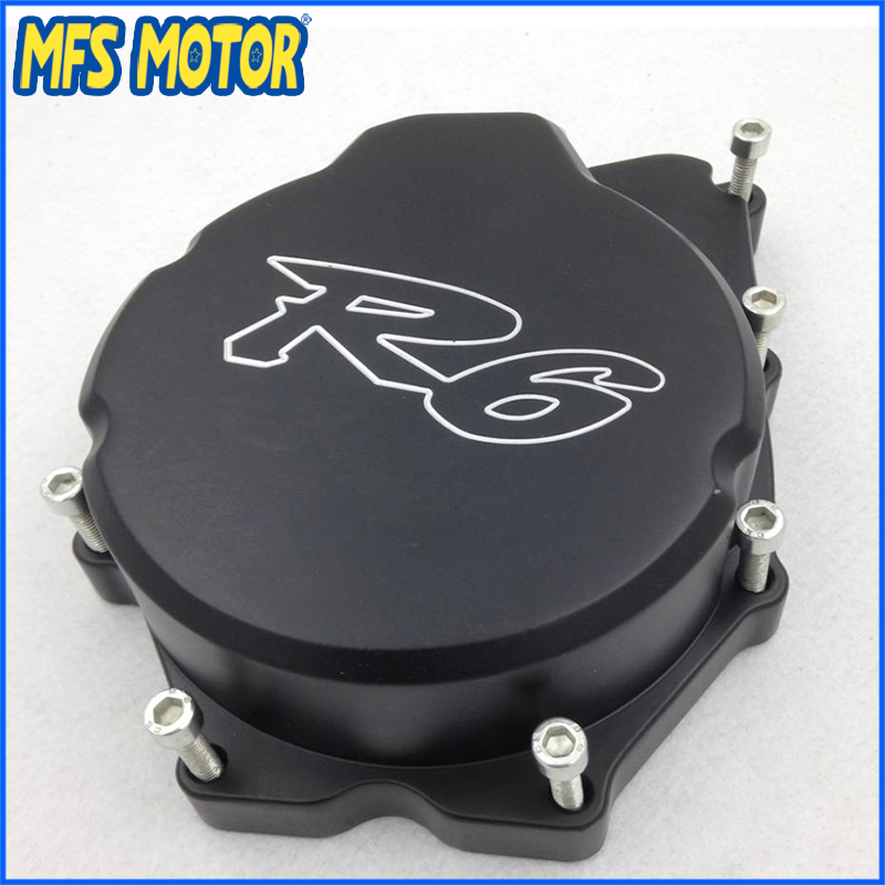 Freeshipping Motorcycle Left side Engine Stator cover For Yamaha YZF-R6 YZF R6 2006 2007 2008 2009 2010 2011 2012 2013 BLACK motocross dirt bike enduro off road wheel rim spoke shrouds skins covers for yamaha yzf r6 2005 2006 2007 2008 2009 2010 2011 20