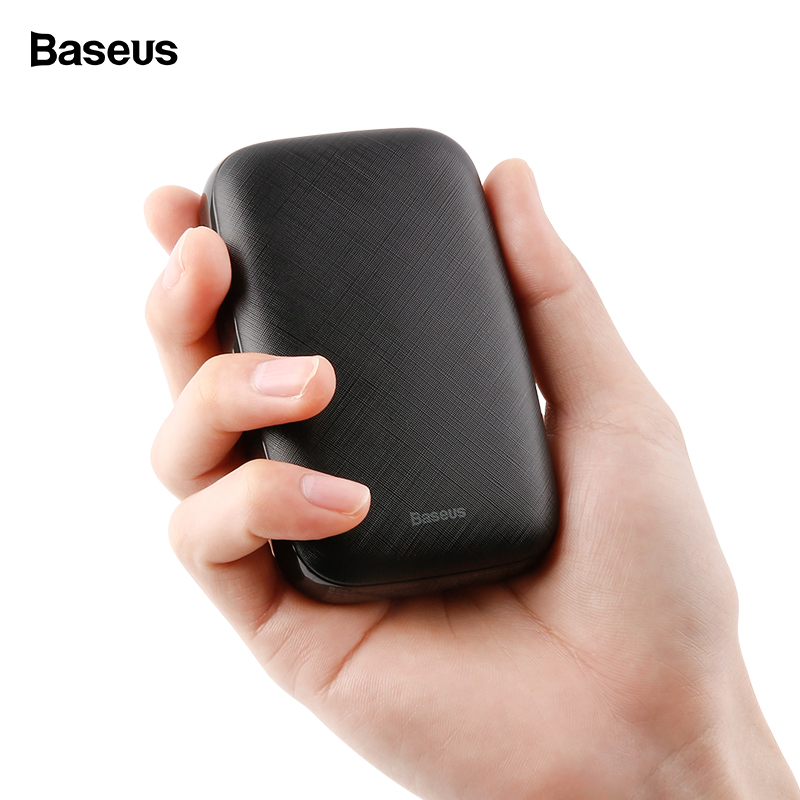 Baseus 10000mAh Mini Portable Poverbank USB Charger Power Bank Mobile Phone External Battery Pack Powerbank For iPhone Samsung usb battery bank charger