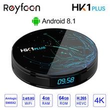 4GB 64GB Android 8.1 Smart TV BOX HK1 PLUS Amlogic S905 X2 Quad Core Dual Wifi BT4.0 USB3.0 H.265 4K Youtube Google Player Store