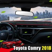Для Toyota Camry 2012 2013 2014 2015 2016 2018 2017 LHD приборной панели автомобиля чехлы для мангала коврики тенты подушки Pad ковры ИНТЕРЬЕР АКСЕССУАР