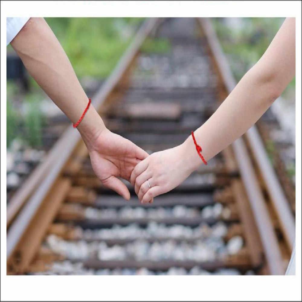 1 шт., красные, черные браслеты с подвеской, модные, счастливые, красные, черные, ручной работы, веревочные браслеты для женщин, мужчин, влюбленных