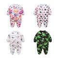Marca de Roupas de Bebê Pijama Macacão de Bebê Recém-nascido Fleece Infantil Macacões de Manga Longa Menino Da Menina do Outono Inverno Roupas de Bebê Unissex