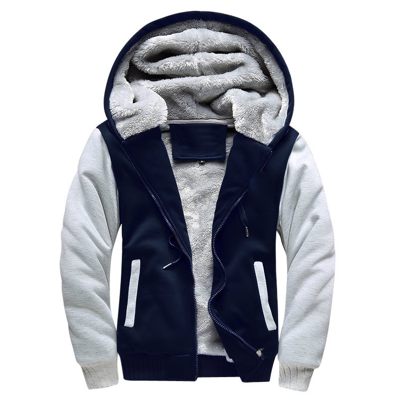 Winter Men Jackets Fleece Warm Hood Thick Parka Velvet Windproof Coats Cardigan Sweatshirts Hoodies Zipper Men Winter Men Jackets Fleece Warm Hood Thick Parka Velvet Windproof Coats Cardigan Sweatshirts Hoodies Zipper Men Hoodie Jacket